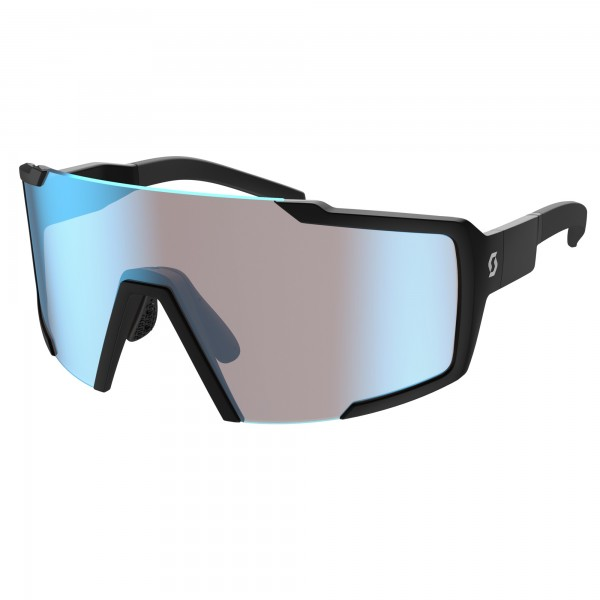 LUNETTE SCOTT SHIELD BLACK BLUE CHROME
