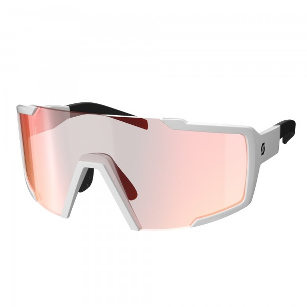 LUNETTES SCOTT SHIELD WHITE RED CHROME